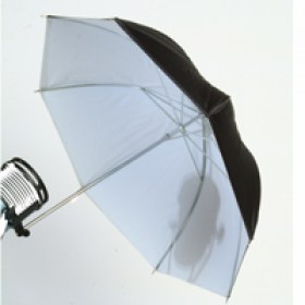 white black brolly